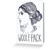 Virginia Woolfpack Greeting Card
