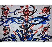 Red and blue Photographic Print