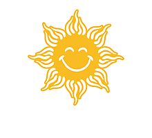 Smiling Sun Funny Face Photographic Print