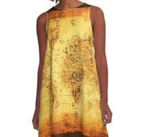 Vintage Old World Map A-Line Dress