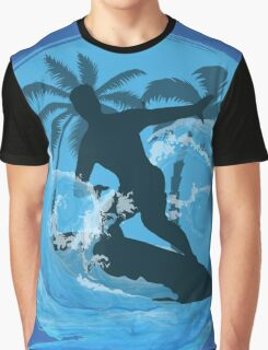 Cool Surfer dude design Graphic T-Shirt