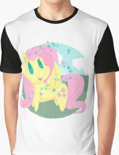 Butterfly Chibi Fluttershy Graphic T-Shirt