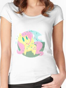Butterfly Chibi Fluttershy Women's Fitted Scoop T-Shirt