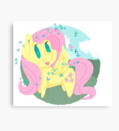 Butterfly Chibi Fluttershy Canvas Print