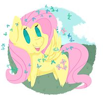 Butterfly Chibi Fluttershy Photographic Print