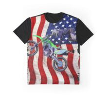 High Flying Freestyle Motocross Rider Graphic T-Shirt