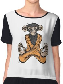 Zen Monkey Chiffon Top