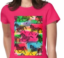 Horse Stampede Womens Fitted T-Shirt