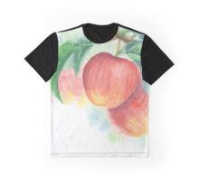 Watercolor Painting of Apples on a Tree with Defocused Background  Graphic T-Shirt