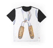Watercolor Painting of Various Gardening Tools Graphic T-Shirt