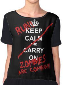 run zombies are coming! Chiffon Top