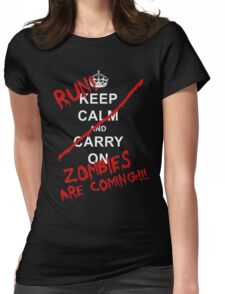 run zombies are coming! Womens Fitted T-Shirt