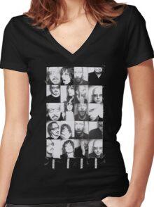 photobooth gar Women's Fitted V-Neck T-Shirt