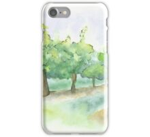 Watercolor Painting of a Vineyard iPhone Case/Skin