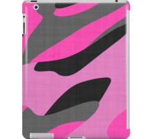 pink and gray camo abstract iPad Case/Skin