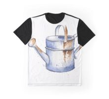 Watercolor Painting of a Rusty Watering Can Spring Graphic T-Shirt