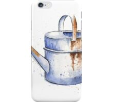 Watercolor Painting of a Rusty Watering Can Spring iPhone Case/Skin
