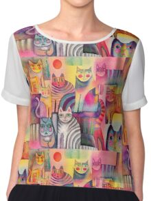 Cats galore Chiffon Top