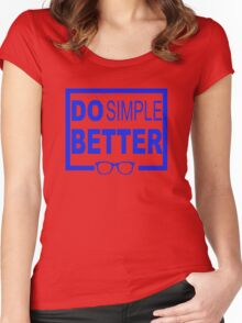 Do Simple Better Women's Fitted Scoop T-Shirt