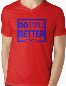 Do Simple Better Mens V-Neck T-Shirt