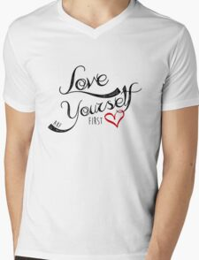 Love Yourself First Mens V-Neck T-Shirt