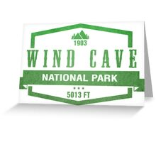 Wind Cave National Park, South Dakota Greeting Card
