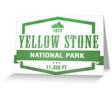 Yellow Stone National Park, Wyoming Greeting Card