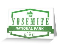 Yosemite National Park, California Greeting Card