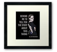 Gillian Anderson: Thong Series Framed Print
