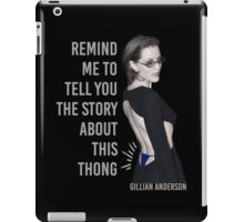 Gillian Anderson: Thong Series iPad Case/Skin