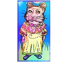 Retro-Cute Fairy Tale Kitty Drawing Photographic Print