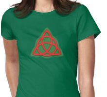 Charmed Book of Shadows Triquetra Womens Fitted T-Shirt