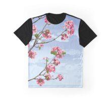 Pink Cherry Blossoms Sakura Graphic T-Shirt