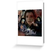 Dark Willow Greeting Card