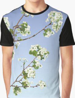 White Cherry Blossoms  Graphic T-Shirt