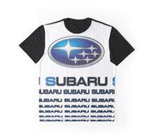 Subaru  Text Graphic T-Shirt