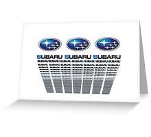 Subaru  Text Greeting Card