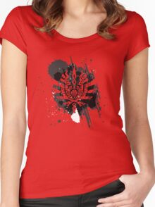 Monster Hunter logo Women's Fitted Scoop T-Shirt