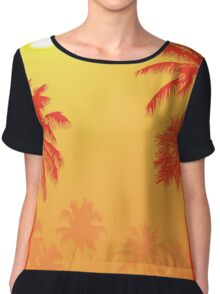 Palm Trees in the Sunset Chiffon Top