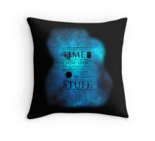 Wibbly Wobbly Timey Wimey Space Throw Pillow