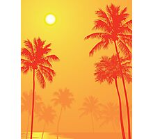 Palm Trees in the Sunset Photographic Print