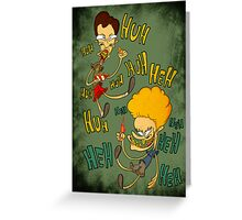 Beavis and Butthead Greeting Card