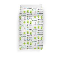 android programming lenguage sticker set Duvet Cover