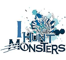 I Hunt Monsters Blue Photographic Print