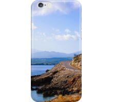 Typical Seascape road in Crete island, Greece iPhone Case/Skin