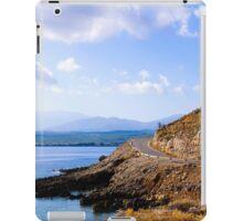 Typical Seascape road in Crete island, Greece iPad Case/Skin
