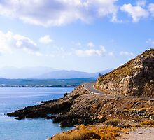 Typical Seascape road in Crete island, Greece by Stanciuc