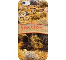 Donkey taxi station sign, island of Crete, Greece iPhone Case/Skin