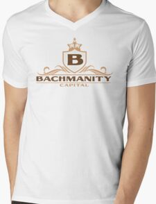 Bachmanity Capital Mens V-Neck T-Shirt