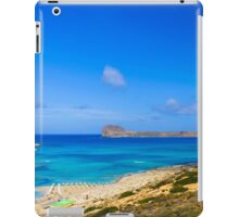 Amazing view over Balos Lagoon and Gramvousa island on Crete, Greece iPad Case/Skin